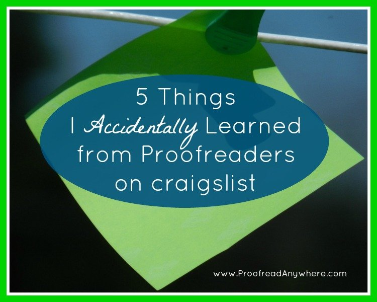 Proofreaders wanted