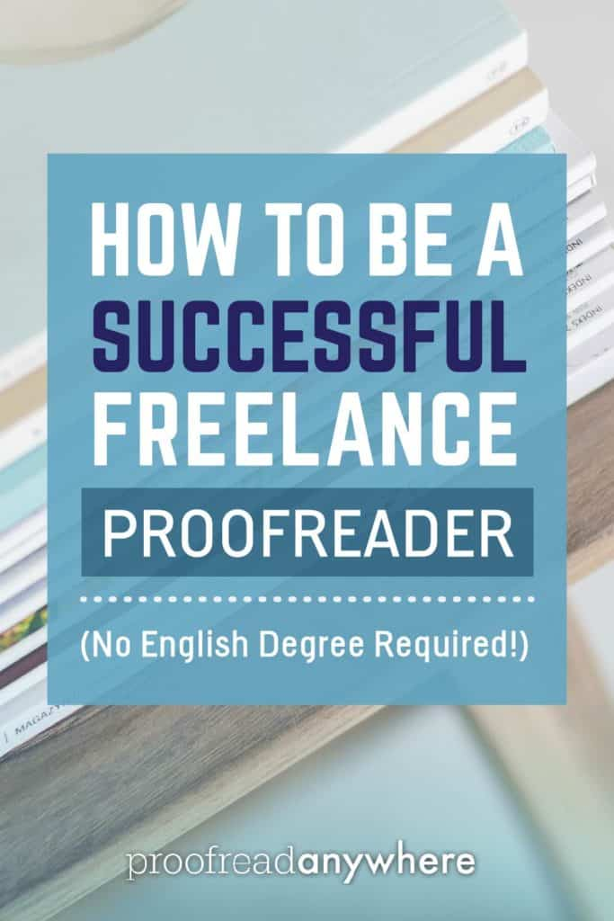 how to become a proofreader with english degrees