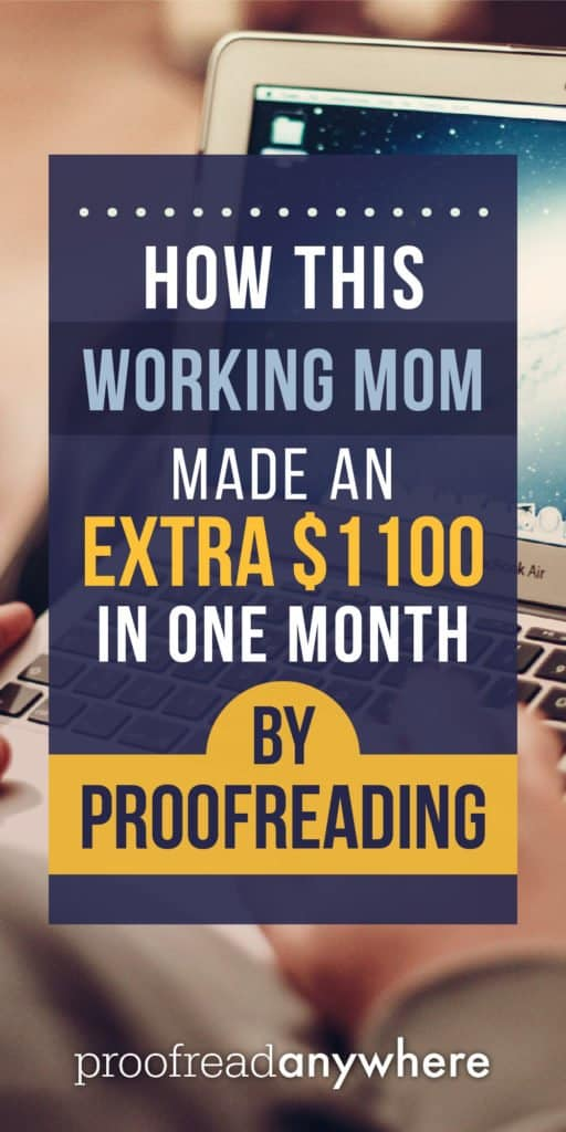 Working mom earns extra money by proofreading