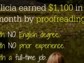 How Alicia Made $1,100 in Proofreading Work — Her First Month!