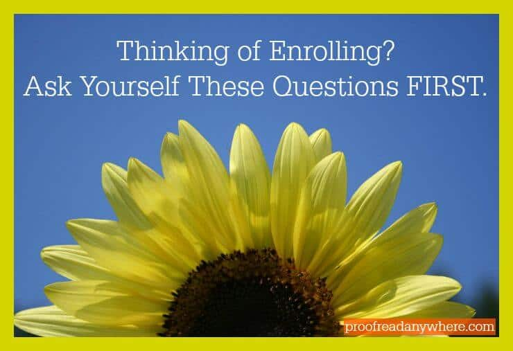 Thinking of Enrolling Ask Yourself These Questions FIRST