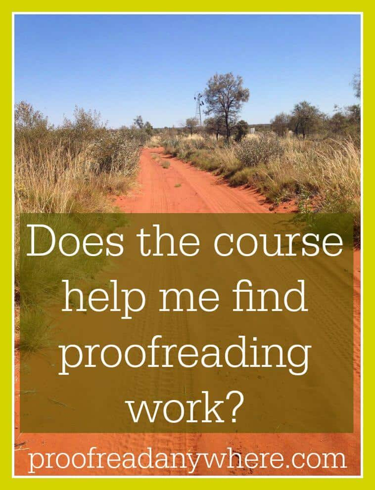 Does the course help me find proofreading work