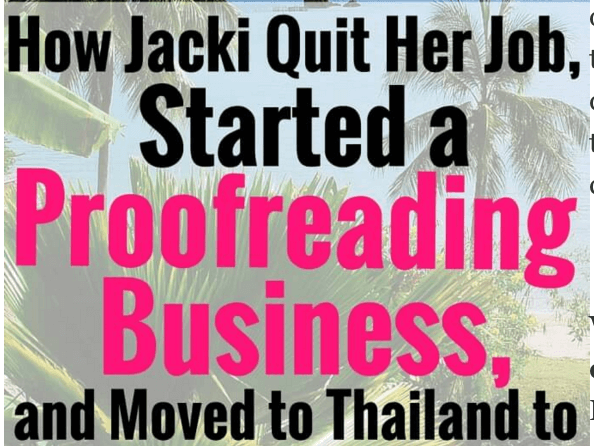How Jacki Quit Her Job, Learned to Proofread Transcripts, and Moved to Thailand to Ride Elephants