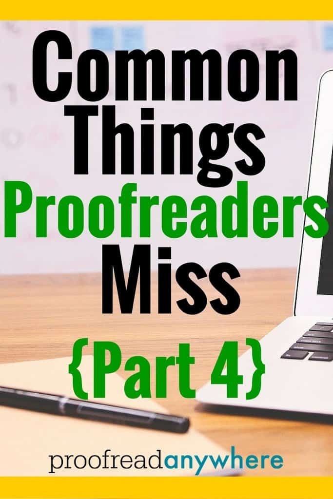 Check out this list of common things proofreaders miss when proofreading transcripts for court reporters.