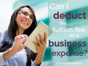 Can I deduct the tuition fees as a business expense?