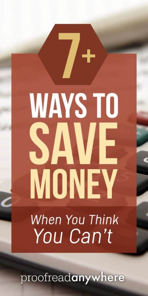Think you can't save money? Yes, you can!