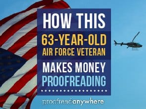 How This 63-year-old Air Force Veteran Makes Money Proofreading