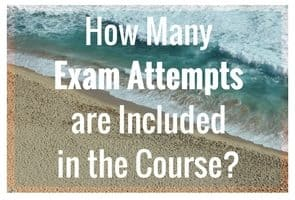 How many exam attempts are included in the Transcript Proofreading course?