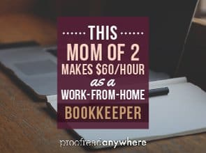 Callie is living the dream as a work-from-home bookkeeper.