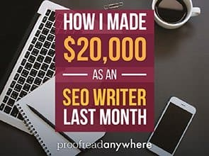 See how you can earn money as a freelance SEO writer