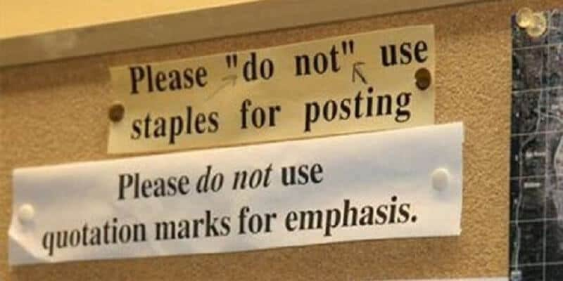 Don't let quotation marks trip you up