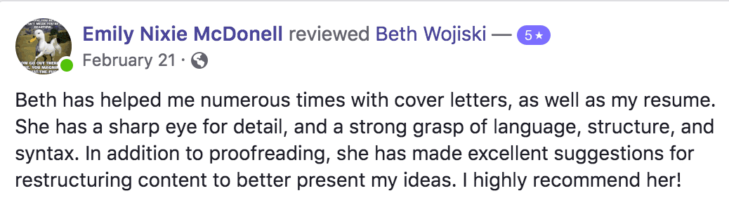 Beth got FOUR proofreading clients by speaking up at a local workshop.