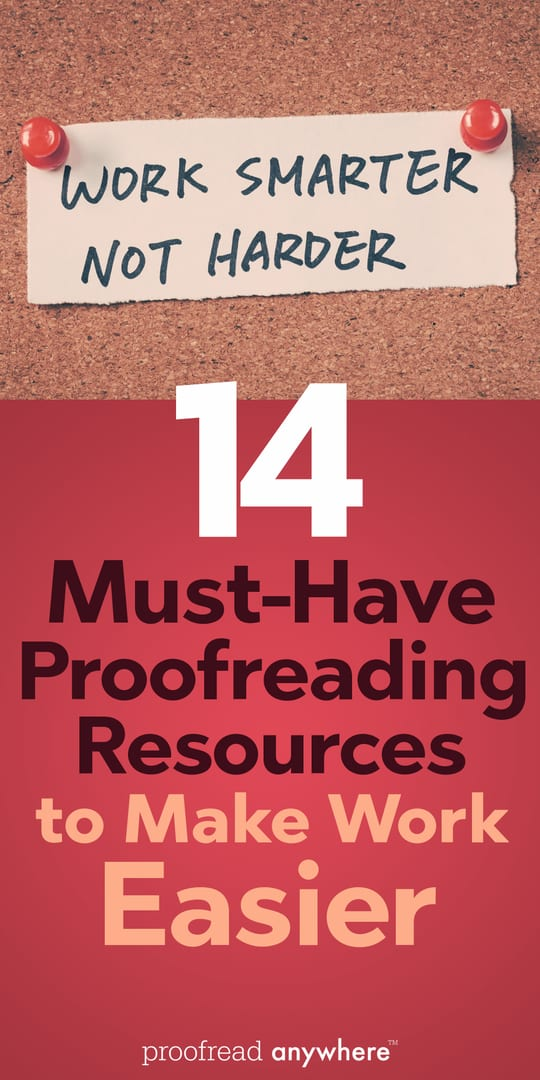 Check out my favorite must-have proofreading resources