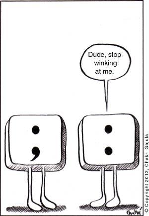Punctuation Pet Peeve: Colon vs. Semicolon