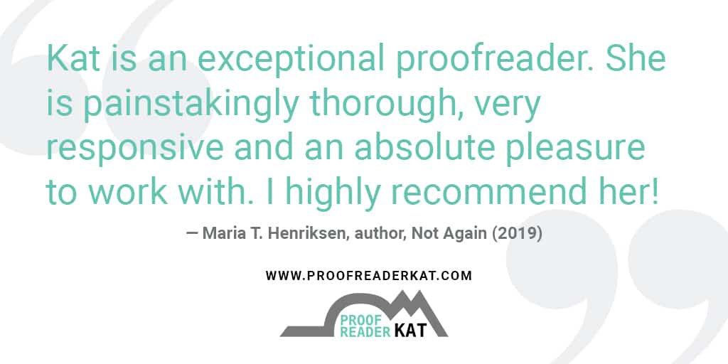 How Katie Works from Home Proofreading Books