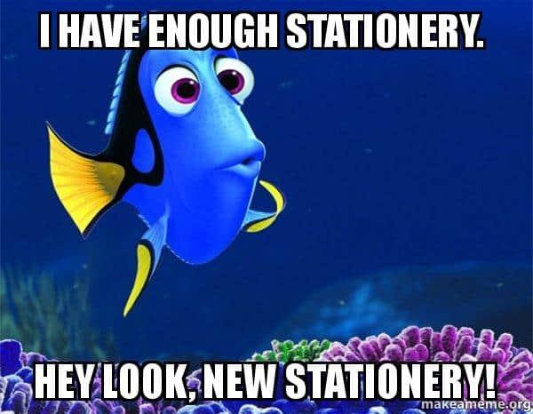 stationery meme