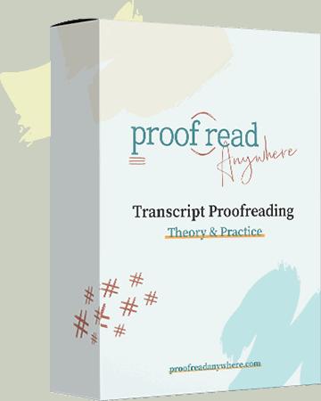 transcript proofreading course